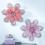 3D Wall Flowers with Crystal Accents - 37918