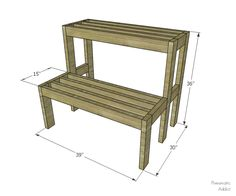 Learn how to build an outdoor tiered display shelf with FREE building plans. Perfect to display holiday decor or to use year-round. Woodworking Projects Diy, Woodworking Furniture, Furniture Plans, Woodworking Plans, Garden Shelves, Plant Shelves, Display Shelves, Display Stands, Home Decor Accessories