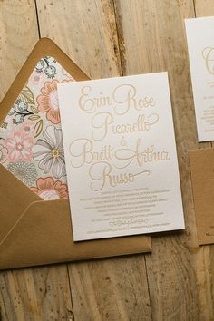 BAILEY Suite Rustic Package, peach, coral, blush, mint,  rustic wedding invitations, twine for invitations, floral wedding invitations, kraft wedding invitations, letterpress wedding invitations