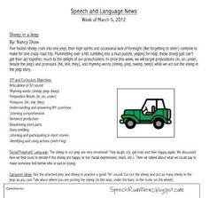 preschool speech therapy note