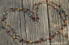 Hand Knotted Gemstone Necklace ~by pineSHANTY, $13.00
