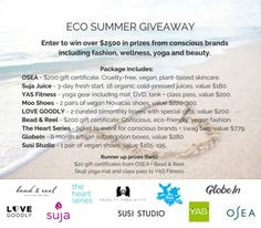 Eco Summer Sweepstakes. One (1) winner will receive over $2500... IFTTT reddit giveaways freebies contests
