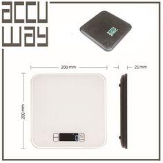 Touch Sleek Tempered Glass Platform Precision Digital Kitchen Food Scale