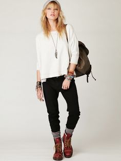 Casual comfy. (Free People) cool earthy swag. www.FashionistaSista.ca