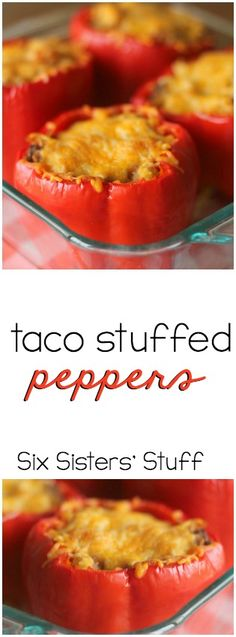 Cajun Delicacies Is A Lot More Than Just Yet Another Food Taco Stuffed Peppers From Healthy, Easy And So Delicious I Love Food, Good Food, Yummy Food, Beef Dishes, Food Dishes, Main Dishes, All You Need Is, Mexican Food Recipes, Dinner Recipes