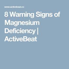 8 Warning Signs of Magnesium Deficiency | ActiveBeat