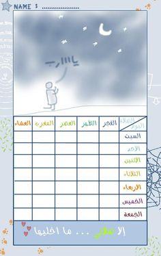 Praying chart.