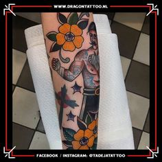 Traditional boxer color tattoo on forearm. Designed and Tattooed by: Tadeja Dragon Tattoo. Tattoo Portfolio, First Tattoo, Forearm Tattoos, Color Tattoo, Boxer, Dragon, Traditional, Tattoos On Forearm, Dragons