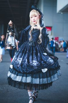 The Ann of April -Vanessa- Gothic Lolita OP Dress,Lolita Dresses, Mode Lolita, Lolita Style, Cute Fashion, Fashion Tips, Fashion Design, Cute Dresses, Cute Outfits, Gothic Lolita Fashion, Fashion Goth