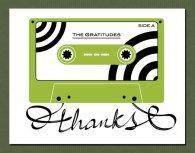 Man vs George - Retro Tape Cassette Thank You Card Set