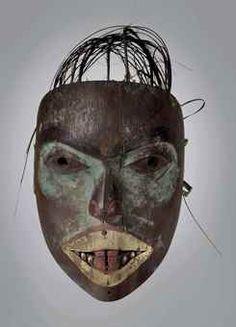 Tlingit mask - Northwest Coast of North America, Height: 29 cm. ½ in. Ancient Artefacts, Haida Gwaii, Tlingit, Indigenous Art, Native American Art, Tribal Art, Indian Art, North West, Art Forms