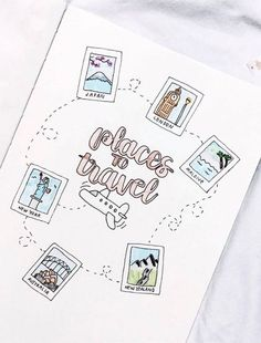 travel idea inspiration bullet journal travel wish list This could be a really cute travel journal inspiration page. Bullet Journal Voyage, Journal D'inspiration, Bullet Journal Travel, Bullet Journal 2019, Bullet Journal Hacks, Bullet Journal Notebook, Bullet Journal Aesthetic, Journal Themes, Bullet Journal Spread