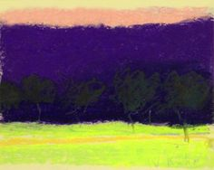 """Wolf Kahn """"Pink Sky"""" Pastel on paper, 1996 8 x 10 in Signed lower right low Contemporary Landscape, Abstract Landscape, Landscape Paintings, Landscape Photos, Famous Artists, Great Artists, Watercolor Wolf, Abstract Art Images, Impressionism Art"""