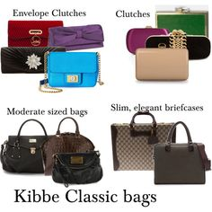 """Kibbe Classic bags"" by furiana on Polyvore"