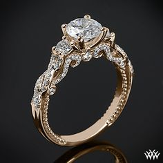 This 3 Stone Engagement Ring is from the Verragio Insignia Collection. #Whiteflash Fabulous