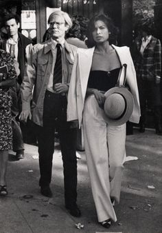 Bianca Jagger and Warhol, 1977