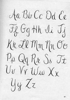 Embroidery Vintage Cursive Font Hand Lettering Alphabet, Cursive Letters, Calligraphy Letters, Caligraphy, Penmanship, Handwriting Fonts Alphabet, Fancy Fonts Alphabet, Uppercase Cursive, Letter Fonts