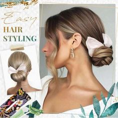 The Deft bun maker is a bendable hair tool that holds hair up stylishly all day long. Just clamp your hair with the bun maker, roll up and bend it into a perfect bun in seconds! Elegance Hair, Lazy Hairstyles, Elegant Hairstyles, Hair Bun Maker, Elegant Bun, Hair Dos, Textured Hair, Hair Hacks, Hair Type