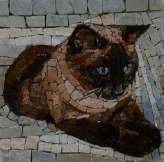Mosaico en piedras preciosas y marmol de Luigi Perotti