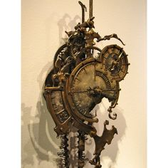 Mechanical Clock 6 by Eric Freitas. Steampunk October 2009 - 21 February The first museum exhibition of Steampunk art. An international show curated by American artist and designer Art Donovan. At the Museum of the History of Science, Oxford, England. Gothic Steampunk, Chat Steampunk, Moda Steampunk, Design Steampunk, Steampunk Kunst, Style Steampunk, Steampunk Clock, Steampunk Fashion, Victorian Gothic