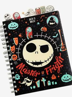 Write down your plans for next Halloween, check your list and make it twice, or just jot down thoughts and feelings. This black tabbed journal features a The Nightmare Before Christmas design starring the Master of Fright, Jack Skellington. Jack Disney, Disney Winnie The Pooh, Nightmare Before Christmas Decorations, Nightmare Before Christmas Halloween, House At Pooh Corner, Harry Potter Marauders Map, Trending Christmas Gifts, Christmas Journal, Christmas Bags