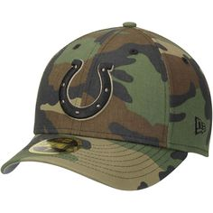604a343225b Indianapolis Colts New Era Woodland Camo Low Profile 59FIFTY Fitted Hat