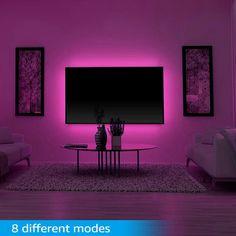 Neon Bedroom, Room Ideas Bedroom, Bedroom Decor, Gamer Bedroom, Bedroom Boys, Boy Room, Purple Tumblr, Interior Design Guide, Hangout Room