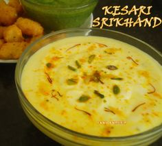 Another mouth watering dessert for summer. shrikhand .... made from yogurt.