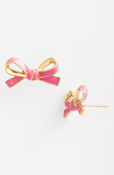Wearing these on Valentine's Day! Cute little bow earrings.