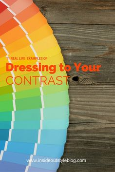 11 real life contrast examples for value contrast and colour contrast and how to wear them when getting dressed