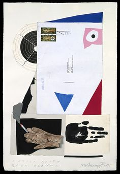 """Collage by Ivan Chermayeff from """"Why Stamps?""""."""