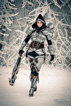 Cosplayer: Germia FB page: www.facebook.com/DATgermia Game: Diablo 3 Character: Demon Hunter Skin: Armor tier 4 - inspired by trailer Photographed in the winter forest