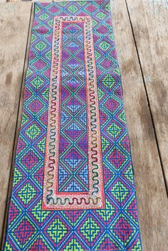 Vintage Hmong fabric Handmade Fabrics, handmade tapestry textiles, hill tribal fabric on Etsy, $12.99