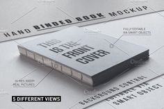 Hand Bound Book Mockup by manfredicalamai on @creativemarket