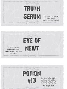 Printable Potion Bottle Labels for Halloween | DIYNetwork.com