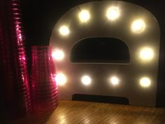 Simple sensory lighting effects created with an LED light and pink plastic glasses