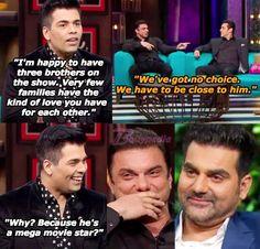 Salman Khan is still a virgin! Koffee With Karan latest episode reveals a lot about Khan Brothers