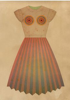 TRACCIAMENTI Dress series. (if you go to this site, go to the top and scroll down quickly. accidental op art effect)