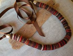 crochet circle pieces necklace idea