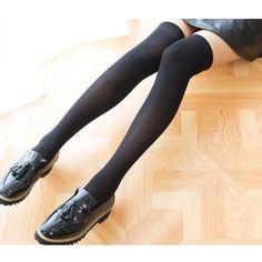 ec9c83b301c Thigh High Women Ladies Girls Over The Knee Cotton Velvet Socks Stocking  Black  fashion