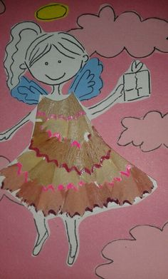 Angeleta vestida amb punxes de llapis! Sílvia... 13  anys