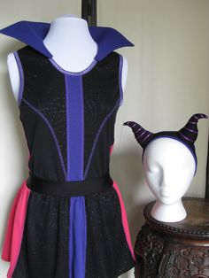 Maleficent Complete Running Costume Disney Villain by Needlemaiden on Etsy… Princess Running Costume, Running Costumes, Disney Princess Half Marathon, Disney Marathon, Disney Running Outfits, Disneyland Outfits, Disney Races, Disney 10k, Disney Villain Costumes