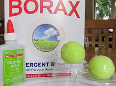 How to make a Bouncy Ball with Glue & Borax! Science Experiment!