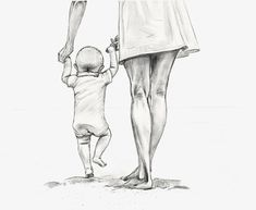 Gjennomsiktig mor som holder et barn som holder håndtegnet PNG-skisse. Cool Art Drawings, Pencil Art Drawings, Art Drawings Sketches, Mother Daughter Art, Mother Art, Mother Clipart, Clipart Baby, Mutterschaft Tattoos, Baby Sketch