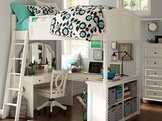 This sample is on PB teen, but it's pricey. The link is for ehow instructions on loft beds.
