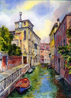 Venice canal (Updated) by MilaKat on DeviantArt