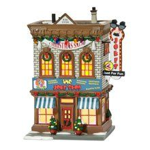 Department 56 A Christmas Story Village Lit Miniature Building, Joke Shop. Available at OurPamperedHome.com