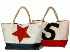 Sail tote with rope