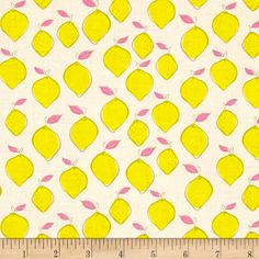 Camelot Pink Lemonade Citrus Splash Lemon White from @fabricdotcom  Designed by Ciana Bodini for Camelot Fabric, this cotton print collection is perfect for quilting, apparel, and home decor accents. Colors include yellow, white and pink.