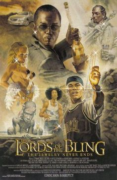 The Lords of the Bling - funny pictures - funny photos - funny images - funny pics - funny quotes - funny animals @ humor Funny Photos, Funny Images, Funny As Hell, Lotr, Funny Animals, Creations, Bling, Humor, Illustration